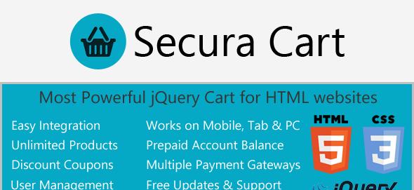 دانلود اسکریپت ای جکس سبد خرید Ajax Cart for HTML websites with Digital Products