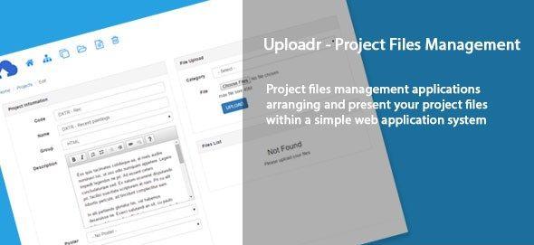 دانلود اسکریپت PHP مدیریت فایل پروژه Uploadr