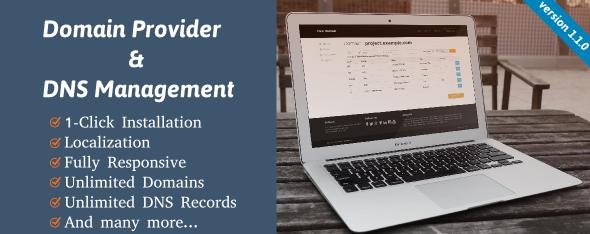 دانلود اسکریپت PHP مدیریت دامنه و دی ان اس Domain Provider and DNS Management