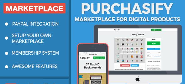 دانلود اسکریپت PHP فروشگاه محصولات مجازی Purchasify