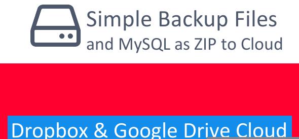 دانلود اسکریپت PHP پشتیبان گیری از دیتابیس و فایل Simple Backup Files and MySQL