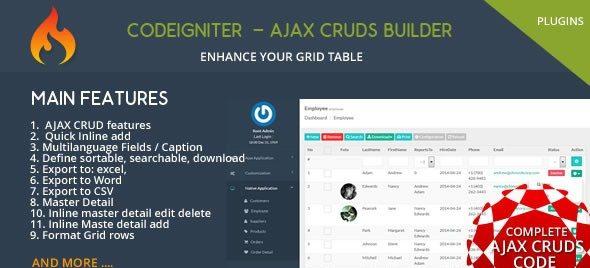 دانلود اسکریپت Codeigniter CMS - Ajax CRUD Plugins