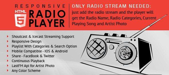 دانلود اسکریپت پخش رادیو Radio Player With Playlist - Shoutcast and Icecast