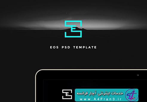 دانلود قالب فتوشاپ سایت Eos