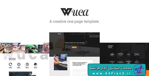 دانلود قالب فتوشاپ سایت Wuca