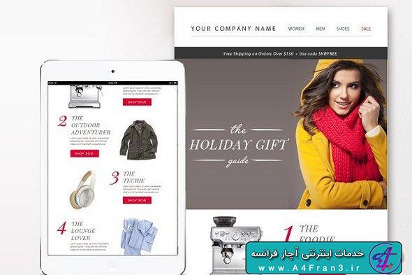 دانلود قالب فتوشاپ خبرنامه ایمیلی eCommerce